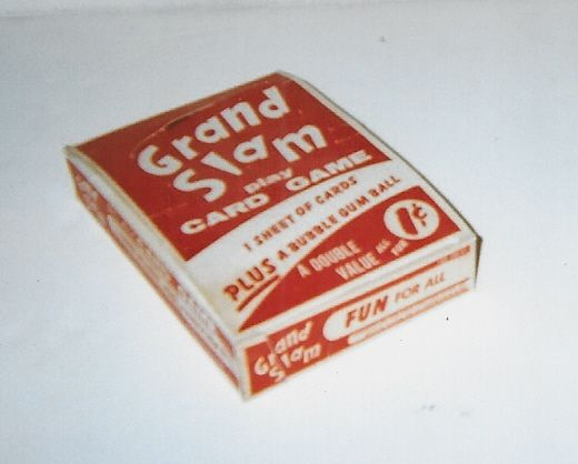 Lot Detail 1950 Grand Slam 1 Cent Baseball Card Game Empty Display Box