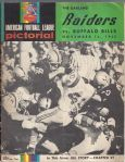 1965 Oakland Raiders (AFL) vs Buffalo Bills Game Program at Oakland