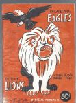 1960 Philadelphia Eagles (World Championship Year) vs Detroit Lions Football Program
