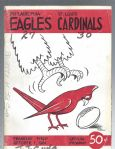 1961 Philadelphia Eagles (NFL) vs St. Louis Cardinals Football Program