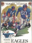 1961 NY Giants (NFL) vs Philadelphia Eagles Football Program.