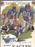 1961 NY Giants (NFL) vs Philadelphia Eagles Football Program # 2