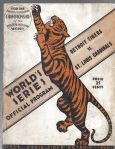 1934 World Series Program (St. Louis Cards vs Detroit Tigers) at Detroit